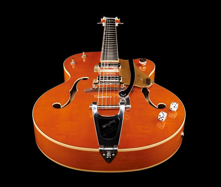 Gretsch Brian Setzer G6120 SSLVO electric guitar, Finish: Vintage Orange Lacquer #thomann #guitar #gretsch
