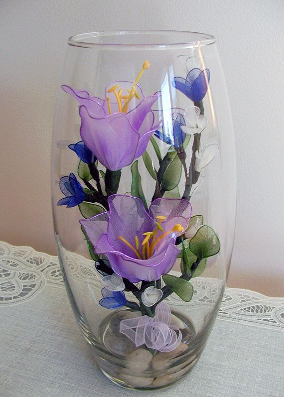 Handmade lavender lily with small cherry blossom by liyunflora handmade lavender lily with small cherry blossom by liyunflora artificial flowers pinterest cherry blossoms lavender and cherries mightylinksfo