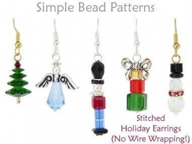Photo of DIY Christmas Earrings Jewelry Making Tutorial Beading Pattern – Women's Jewelry Blog