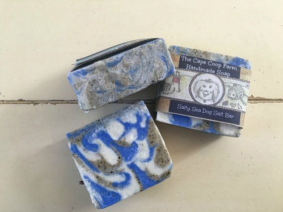 Salty Sea Dog soap is made with unfiltered Cape Cod seawater and sea salt & seaweed collected from the shores of the Cape!