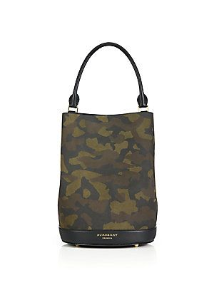 Burberry Camouflage Leather Bucket Bag  2a66d1856ce27