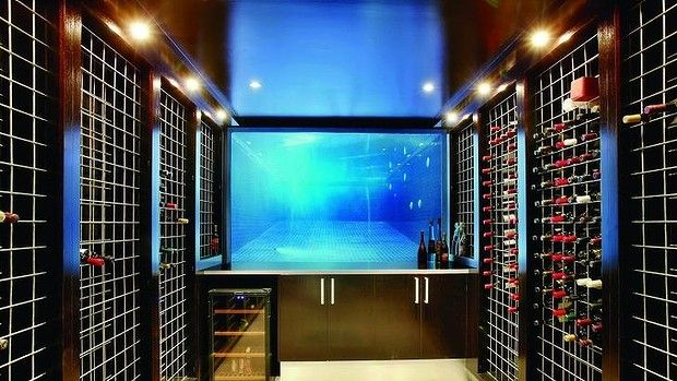 Storage Room: An Underground Wine Cellar With View Into The Propertyu0027s ...