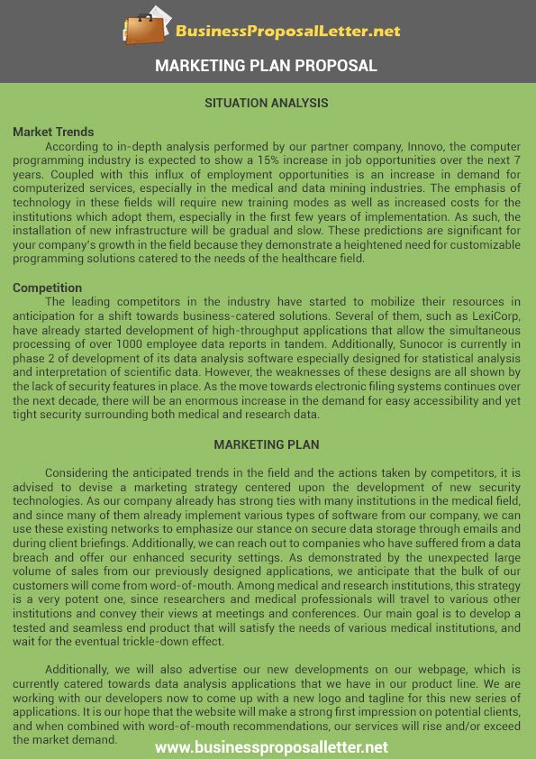 Marketing Plan Proposal Samplebusinessproposalletter – Marketing Proposal Letter