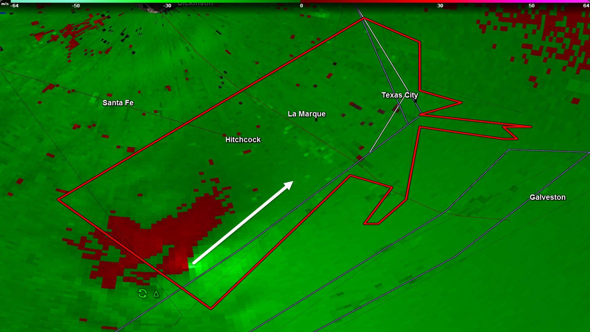 Tornado Warning Galveston & Brazoria Counties till 745AM