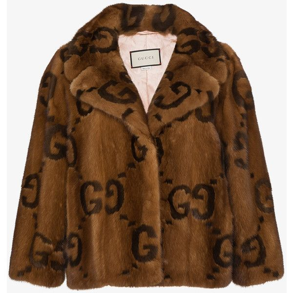 Gucci Fur Jacket With Double G Logo ( 39 98b0a9187d77