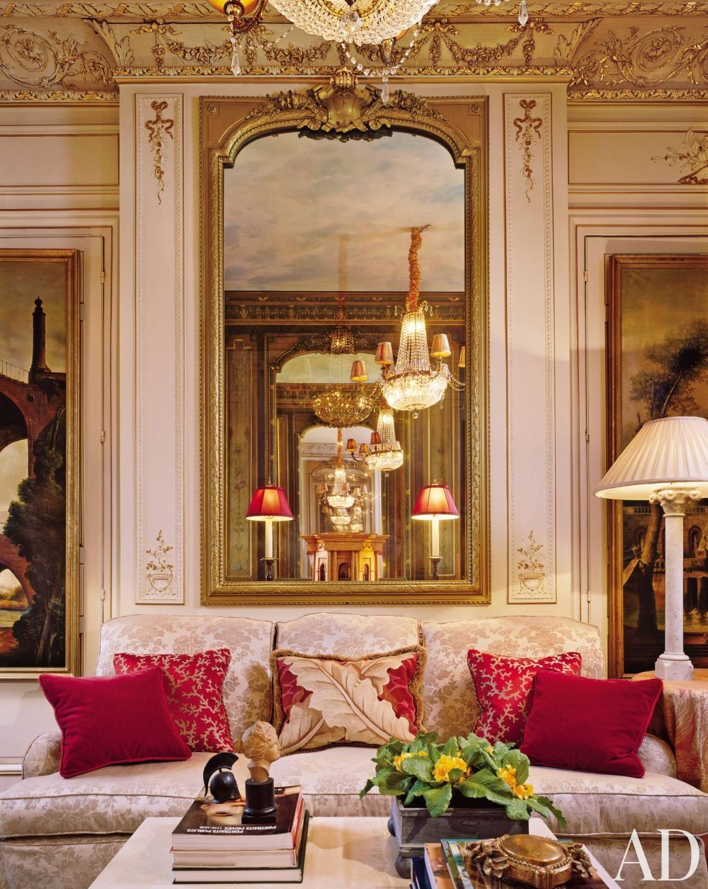 Traditional Living Room by Timothy Corrigan Inc in Paris France  timothy corrigan