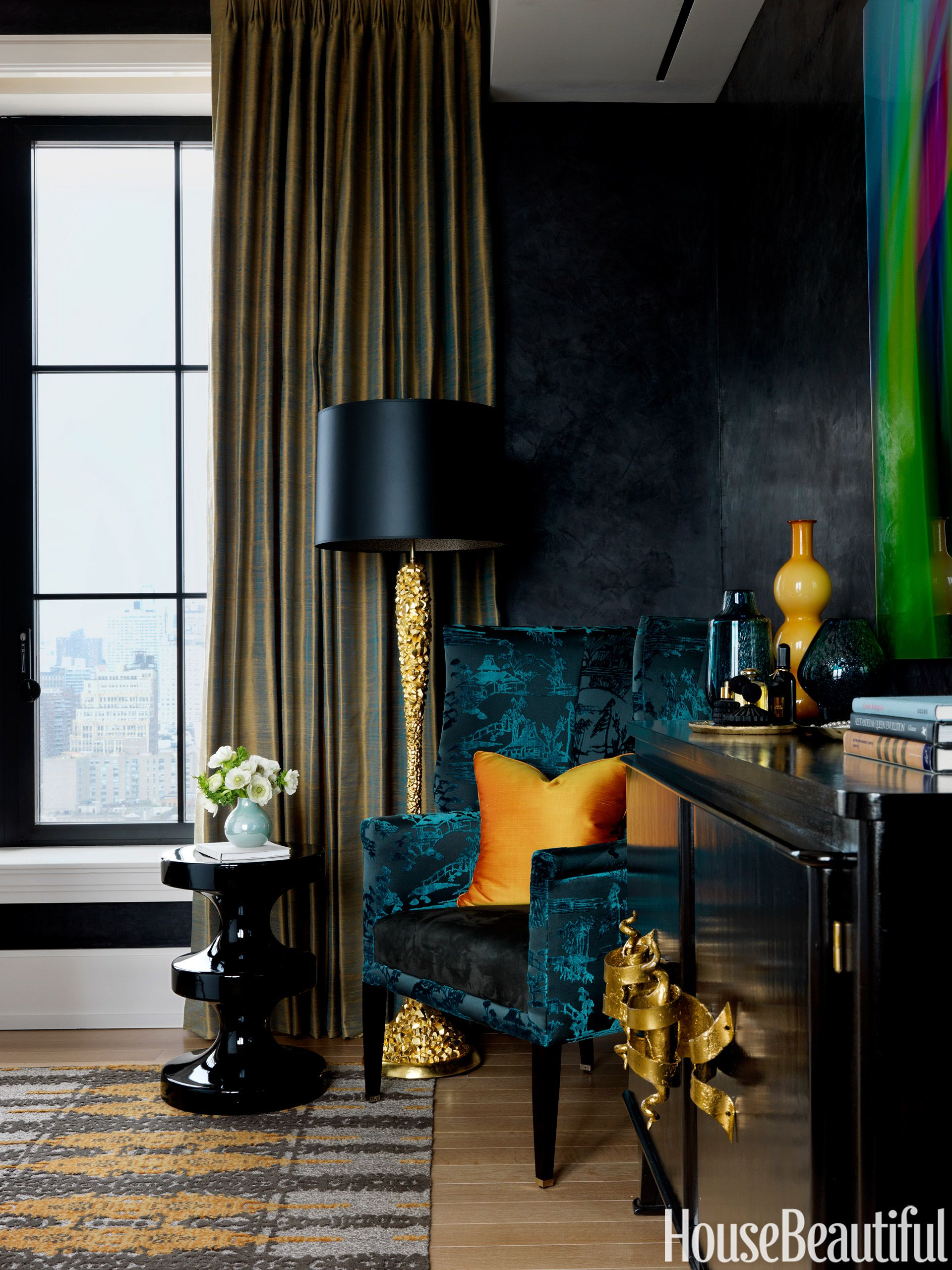 Dark paint ideas for bedroom  How To Make Dark Colors Work In ANY Room  Dark Dark walls and