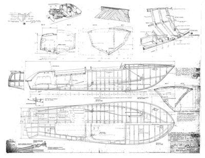 Plan de l'Aquarama Special de 1969 © Riva Boats - 87.6 ko ...