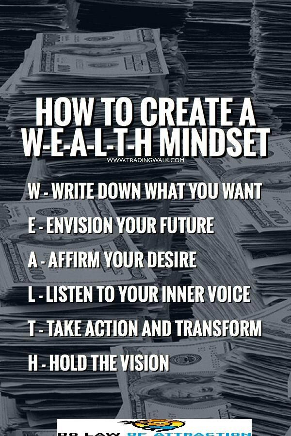 9 Steps To Develop your wealth mindset with the Law of Attraction!