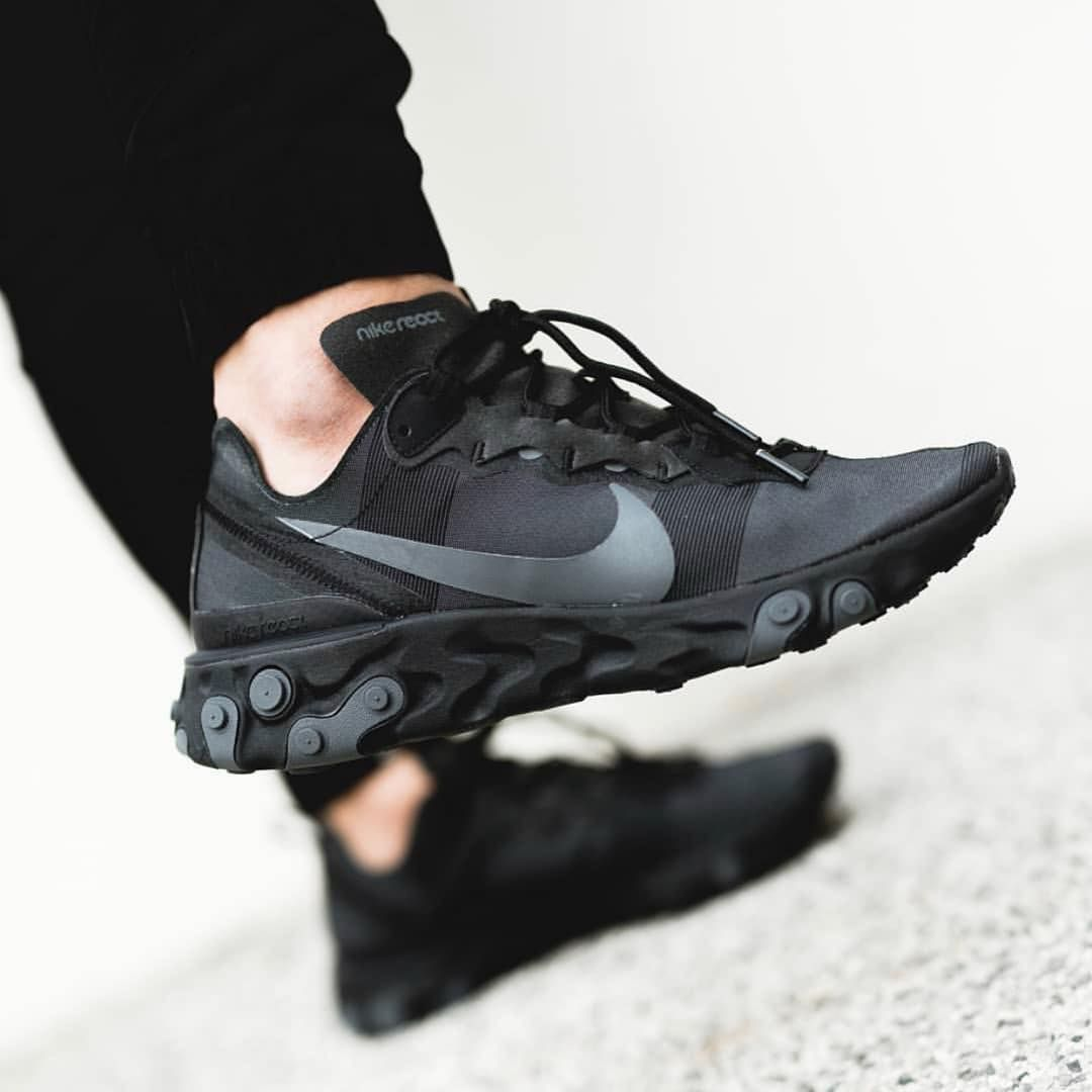 Nike React Element 55 Black Dark Grey | Chaussures nike