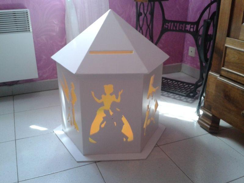 urne de mariage sur le th me de cendrillon b4wedding. Black Bedroom Furniture Sets. Home Design Ideas