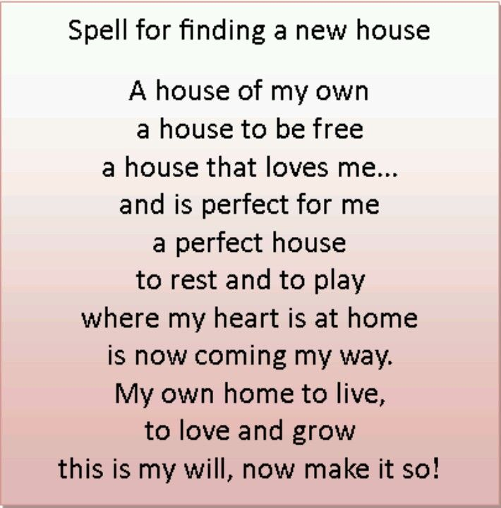 Magick Spells Spell For Finding A New House
