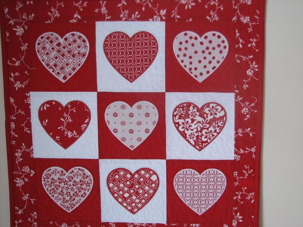 You Have To See Project Cupid Heart Wall Hanging On Craftsy Heart Quilt Heart Quilt Pattern Wall Quilts