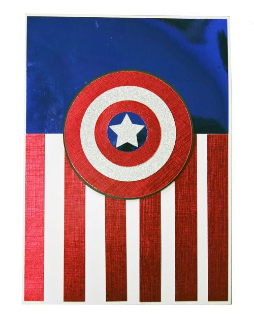 Oh my crafts blog captain america card cards super heros oh my crafts blog captain america card bookmarktalkfo Image collections