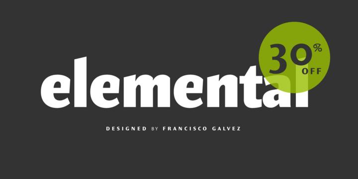 Font dňa – Elemental Sans Pro (zľava 30%, od 27,30$) - http://detepe.sk/font-dna-elemental-sans-pro-zlava-30-od-2730/