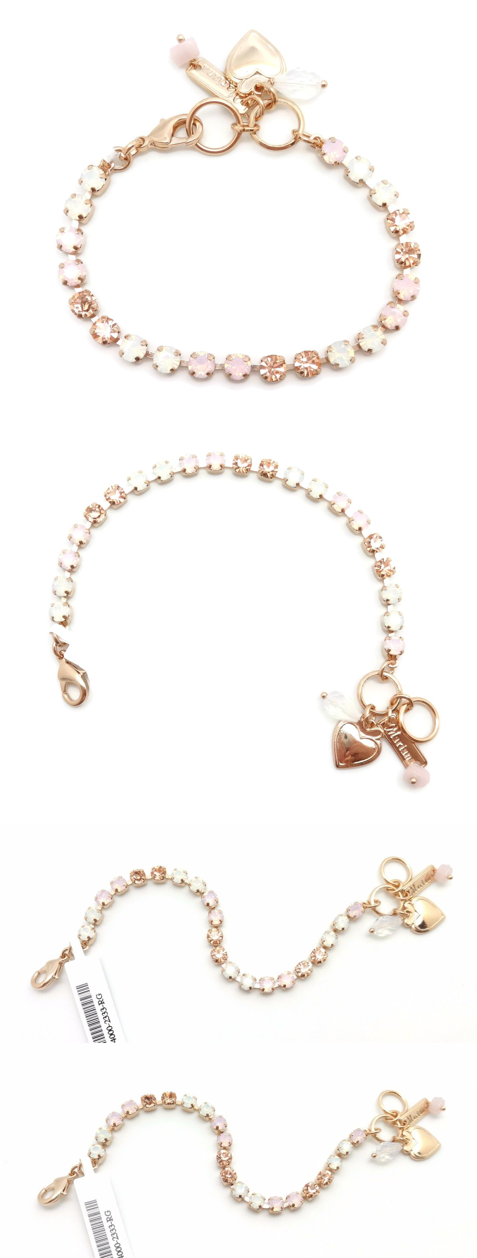 Bracelets mariana rose gold swarovski bracelet rosewater and