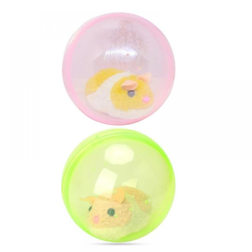 Children Electronic Pets Lovely Electric Hamster Rolling Ball Toy Plastic Exercise Running Ball Plush Toys For Pets Hamster Toys Pets Cat Toys