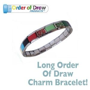 Charm Bracelet Long Order Of Draw With Tiger Tops