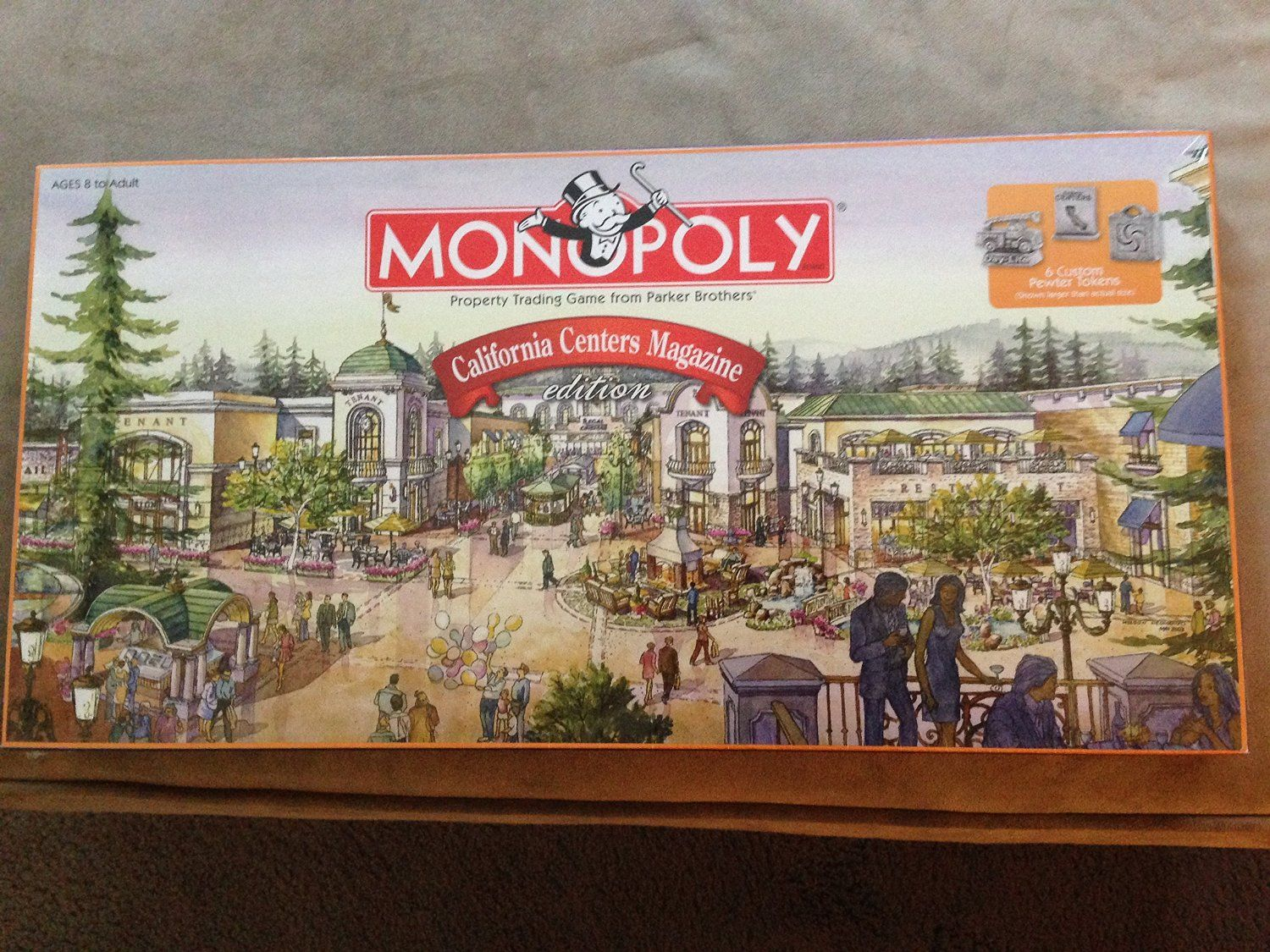 Monopoly california centers magazine edition board game