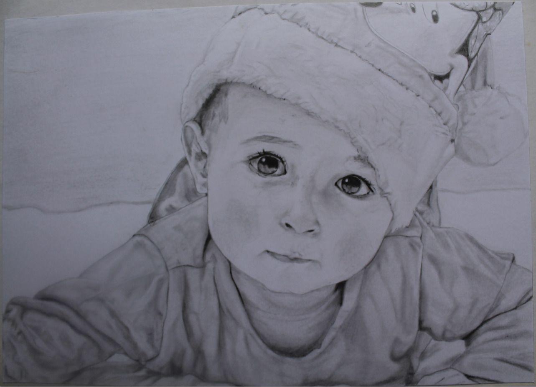 Portrait D Une Petite Fille Aux Crayons Dessins Par Mylittlepearl