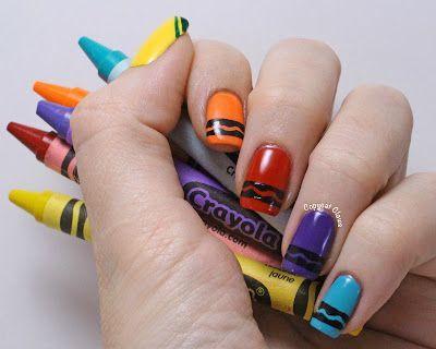Crayon Nail Art Chloe Would Love This Top Nail Art Designs