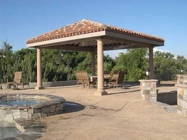 Free standing patio roof covers free standing patio for Freestanding patio cover