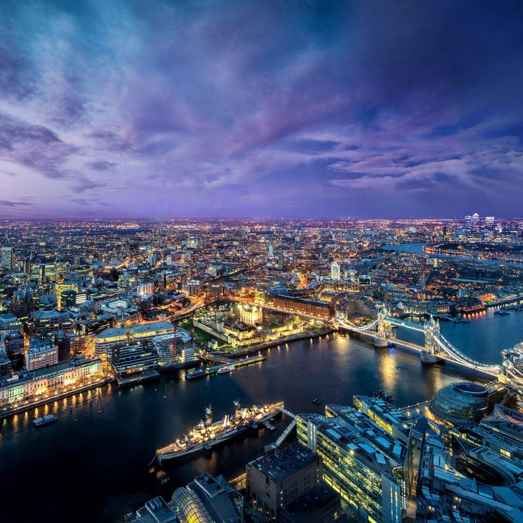 Nature London Bridge Night Cityscape Ipad Wallpaper