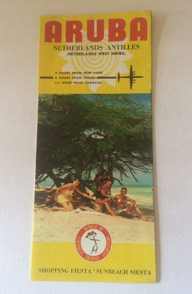 Vintage Travel Brochure Aruba Netherlands Caribbean Shopping