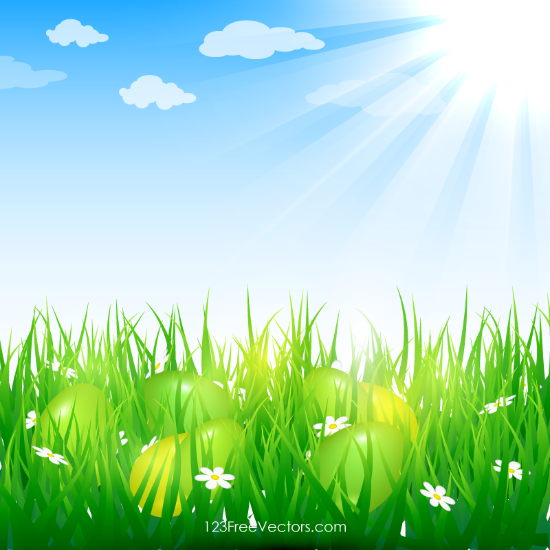 Easter Eggs In Grass Image Easter Backgrounds Easter Colors Easter