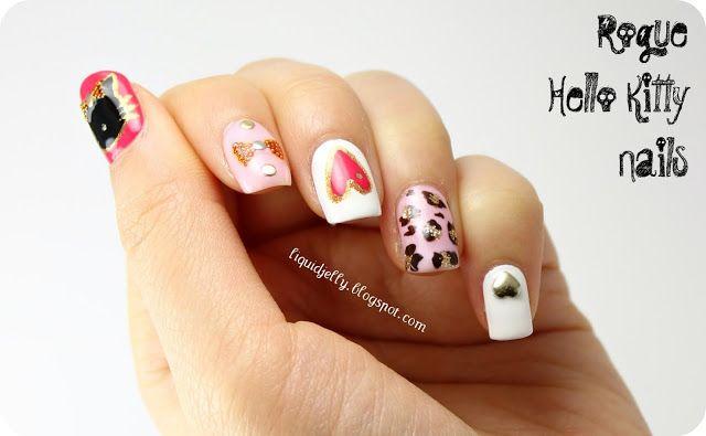 Rogue Hello Kitty  #nail #nails #nailart