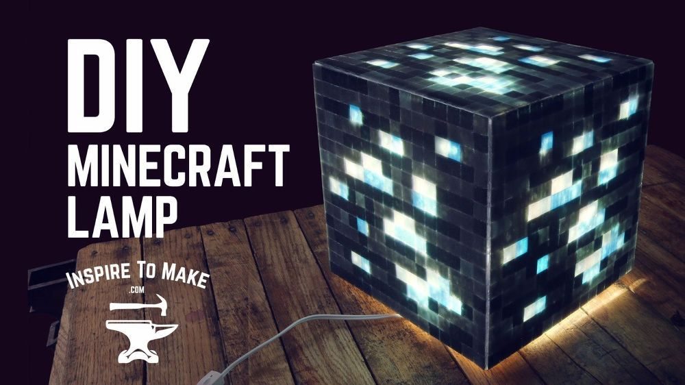 Diy Minecraft Lamp Diy Minecraft Diy Lamp Lamp