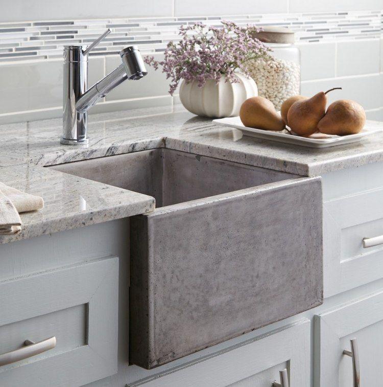 Perfect Arbeitsplatte Aus Beton  30 Ideen Für Oberfläche In Der Küche