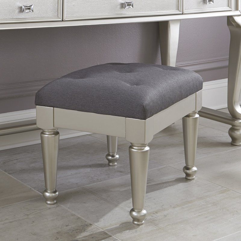 Guillaume Upholstered Vanity Stool With Images Furniture