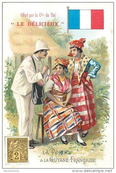 Costume Traditionnel Guyane Affiche Imprimee Carte Postale Costume Traditionnel