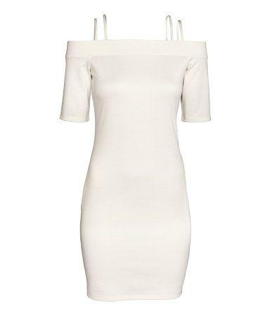 Off-Shoulder-Kleid   Weiß   Damen   H&M DE (с изображениями)