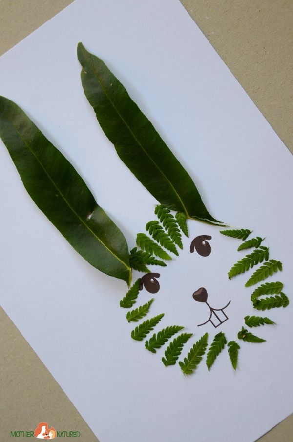 Beautiful Easter Bunny Nature Craft Printables for Kids | Nature ...