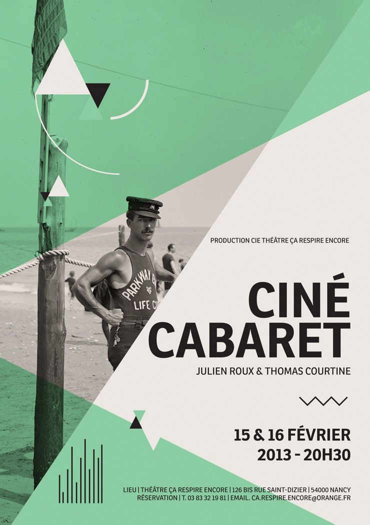 Ciné Cabaret - Type in use - Type Together  High quality fonts and - cool flyer ideas