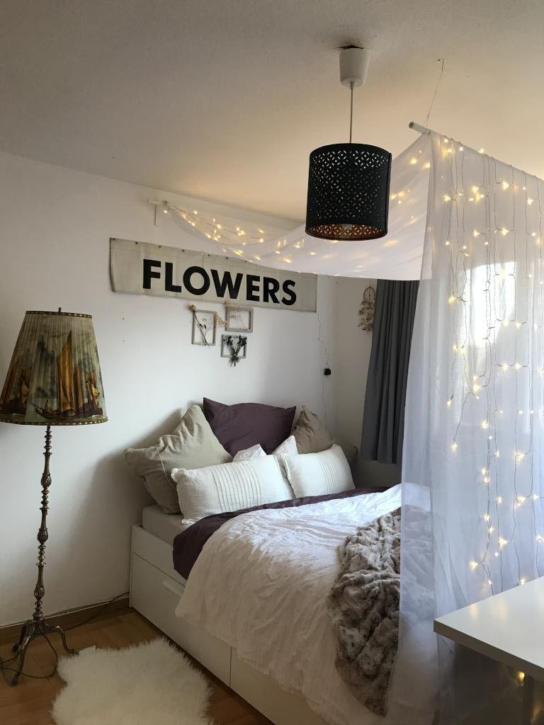 Wunderschönes Himmelbett Mit Lichterkette Wgzimmer