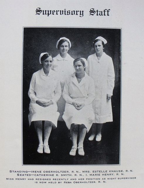 Nursing Supervisors at Pottstown Hospital School of Nursing 1931 - Hildegard Peplau's School of Nursing Yearbook by @Vernon Zhang Dutton, via Flickr.