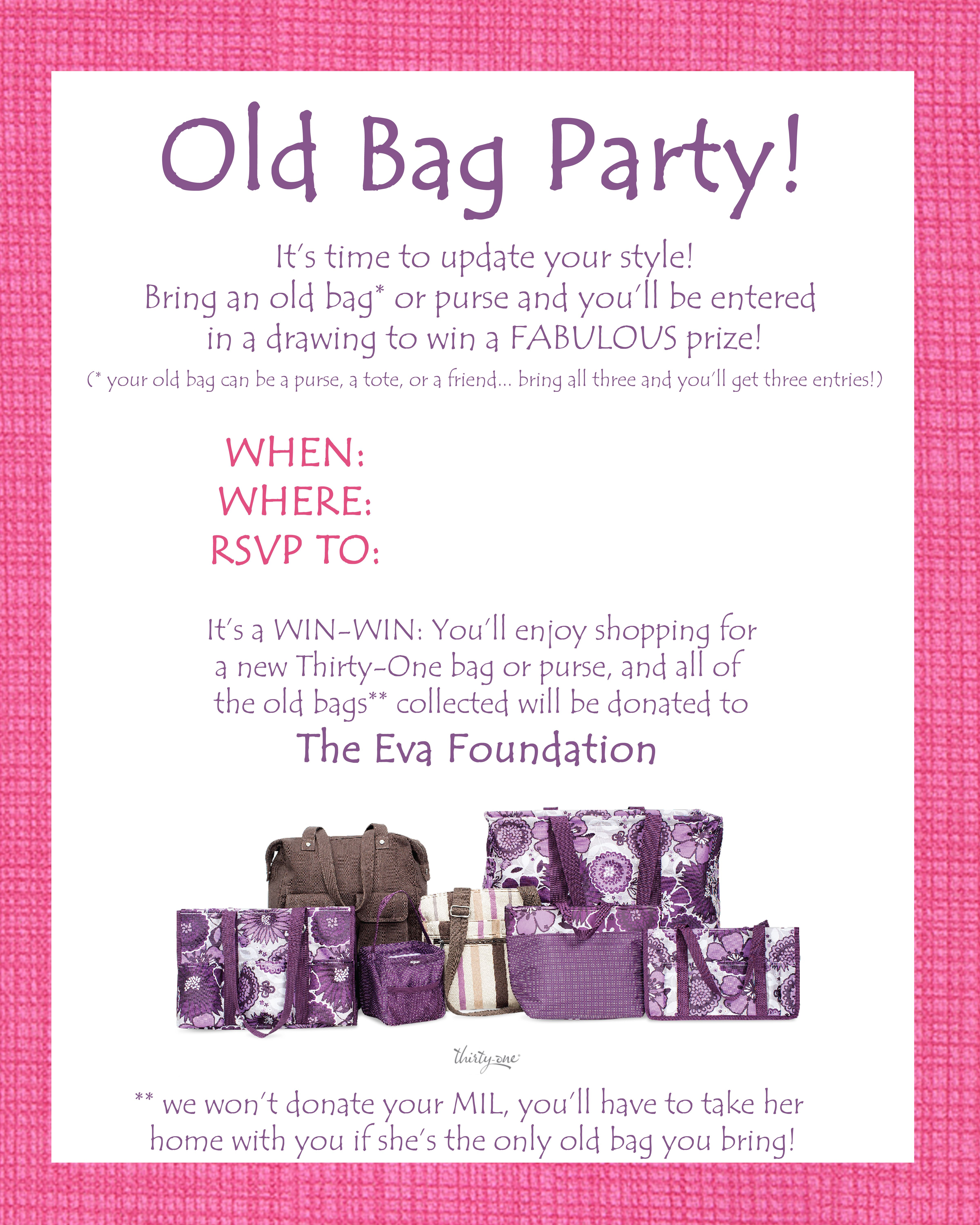 ThirtyOne Facebook Party Script – Thirty One Party Invites