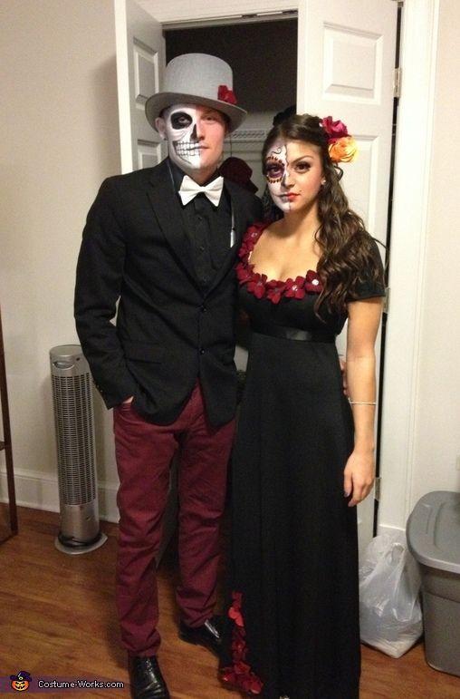 Dia de los muertos halloween costume contest at costume d guisements maquillage - Maquillage halloween couple ...