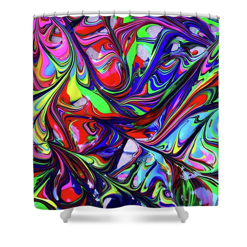 Multicolored Abstract Expressionism Swirl Artwork (With