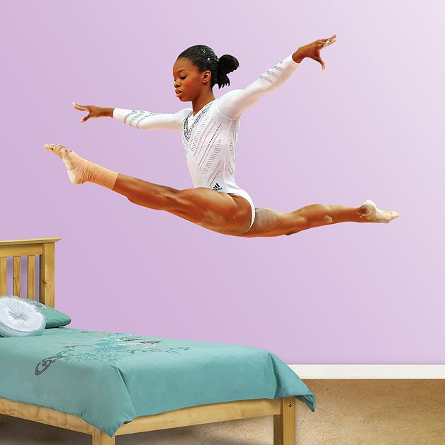 Fat Headu0027s Wall Stickers For Girls | Gabby Douglas   Leap Fathead Wall Decal