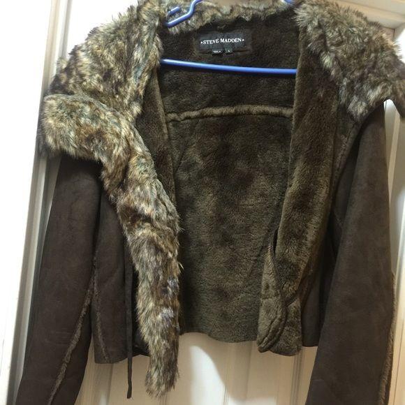 Coat Steve Madden brown coat Steve Madden Jackets & Coats
