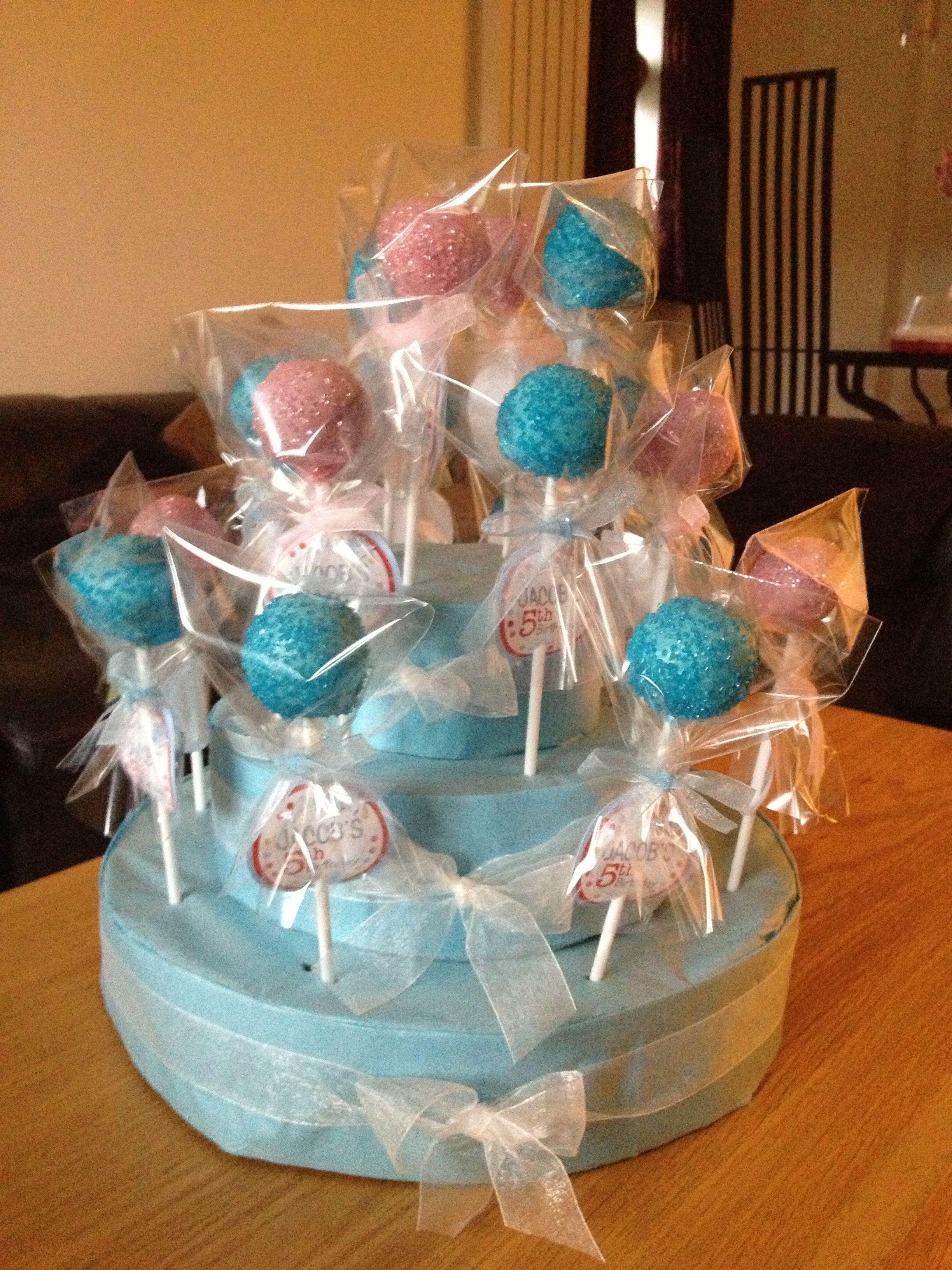 A Little Boys 5th Birthday Cake Pops X