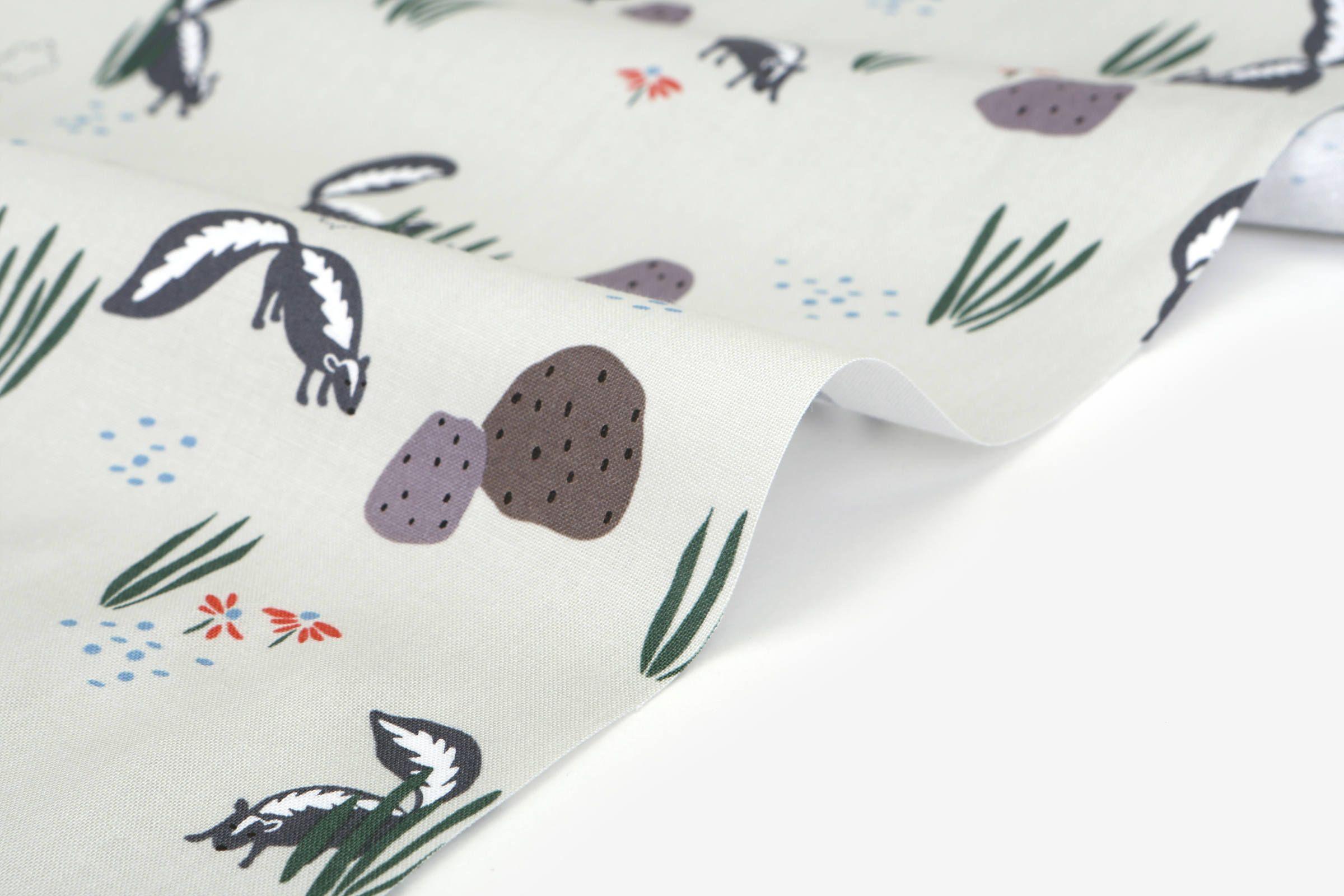 1 2 Yard 100 Cotton Skunk 42 Wide Dailylike Canada Cotton Linen Fabric Cotton Fabric