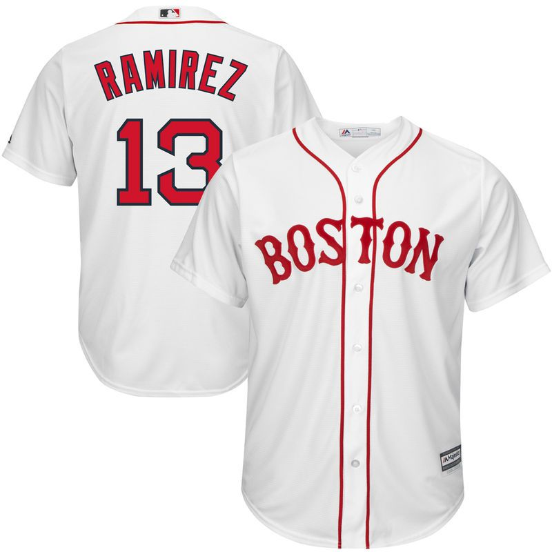 c0e45a04c Hanley Ramirez Boston Red Sox Majestic Cool Base Player Jersey - White