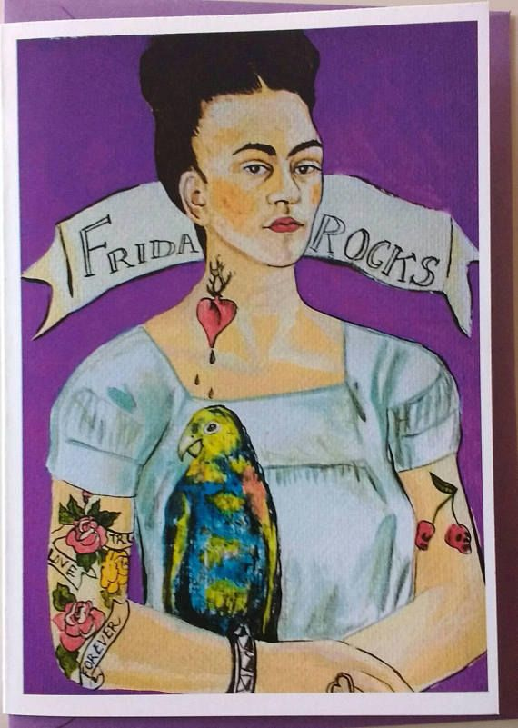 Frida Kahlo Greetings Cardshave A Rock And Roll Dayida Birthday