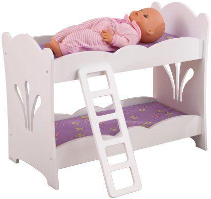 Amazon Com Kidkraft Littile Doll Bunk Bed Toys Games Doll