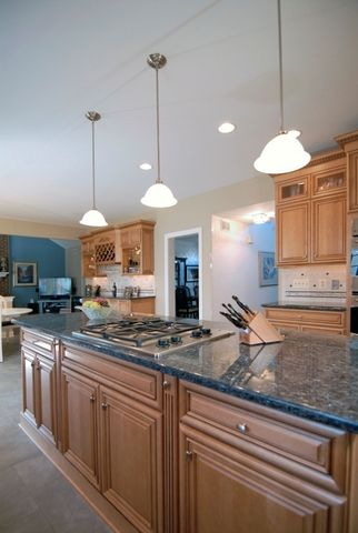 Blue Pearl Granite Countertops With Our Kitchen Wall Color In The